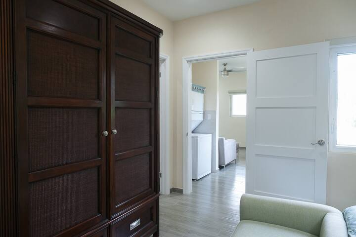Second bedroom to laundry area.