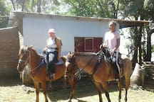 Our customers enjoying of a tour,  Horseback Riding today .
