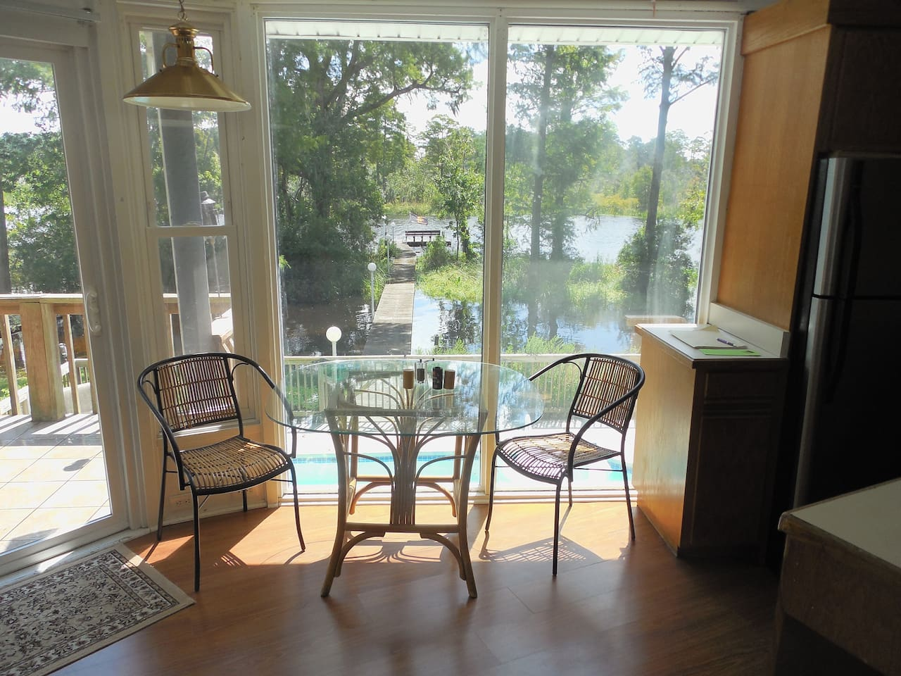 View of the Trent River from the house.