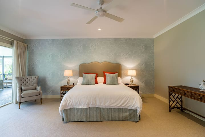 Master Bedroom with enuite, private dressing room and walk in robe.