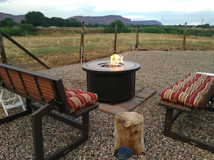 After a day of sightseeing, sit back for a night by the fire pit and stargazing.