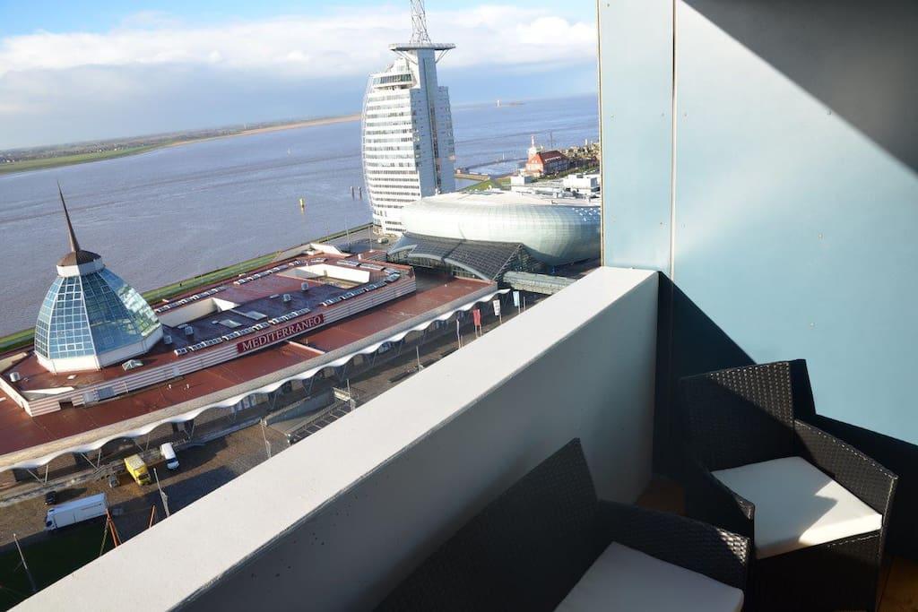 Sitzecke auf Balkon
