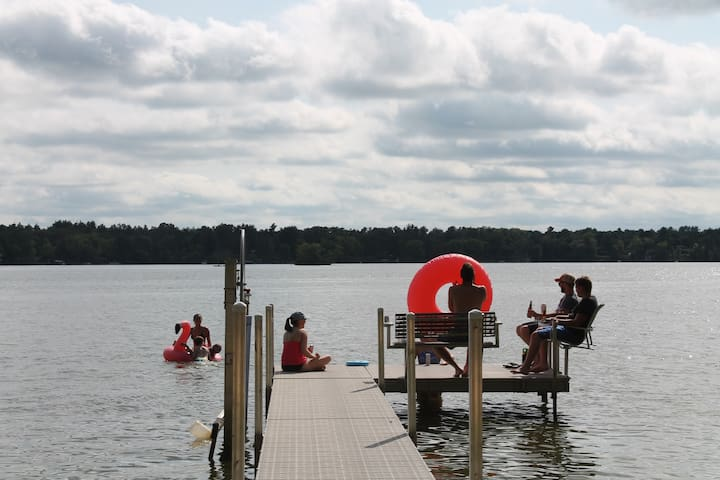Large, Private Dock - - Plenty of Seating Room!