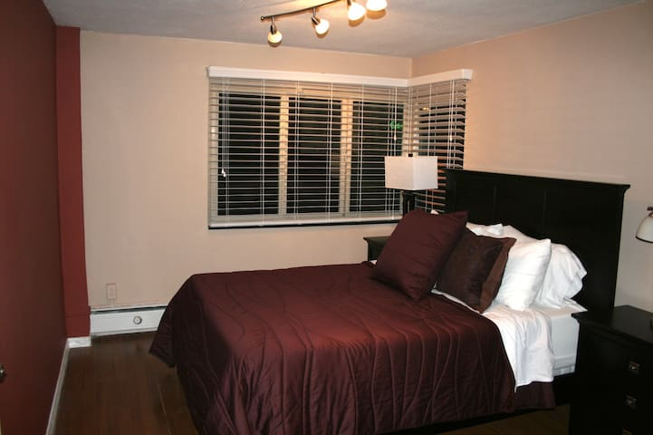 Fall asleep on the Memory Foam mattress and down pillows in the Master Bedroom
