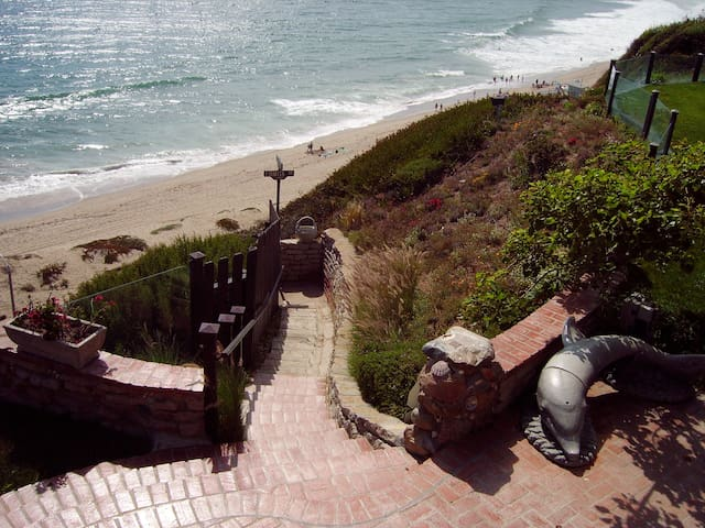 Steps down our bluff to Westward and Zuma beaches are rebuilt now.