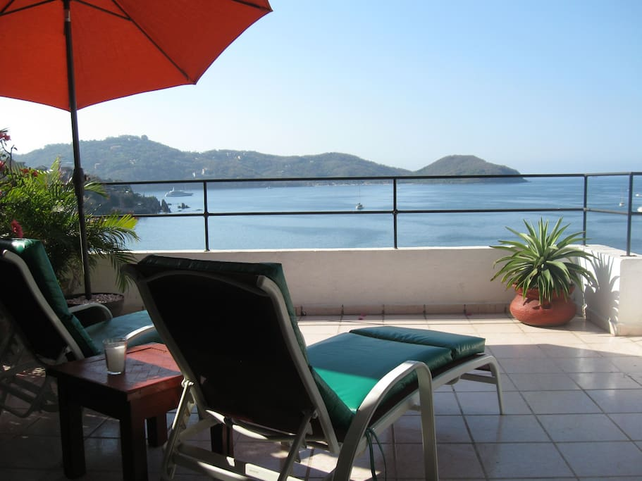 Terrace view of Zihuatanejo Bay