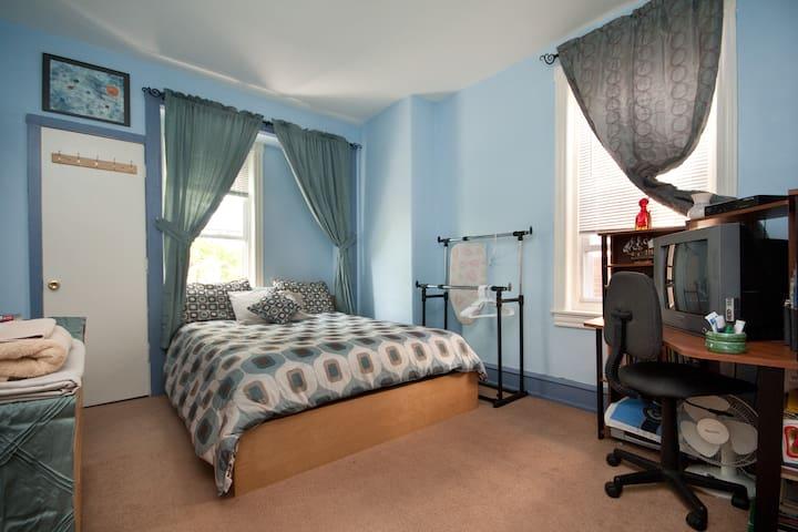 WOW! Queen bed, wi-fi, parking - Philadelphia - Rumah