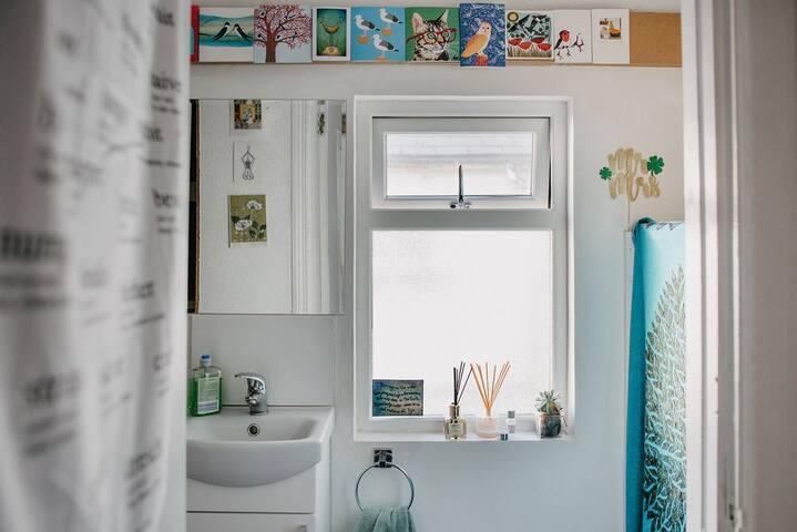 Colourful closet toilet