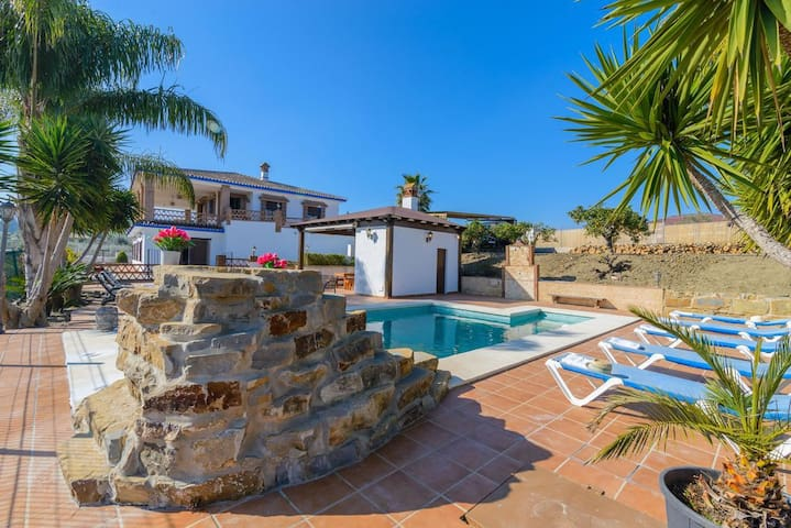 Spectacular Villa with Pool, Terraces, Garden, Wi-Fi & Air Conditioning; Parking Available