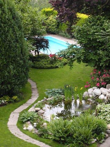 Ansicht Garten mit Pool