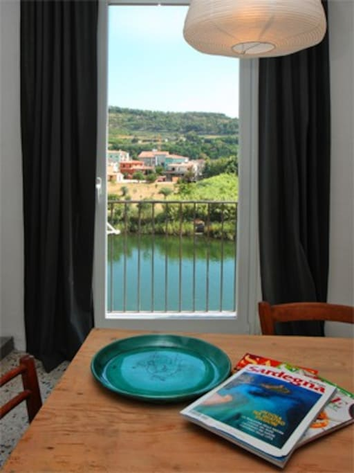 View from the Kitchen over the placid waters of the river