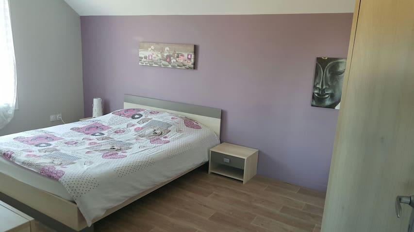 Chambre au calme TV + lit en 160 - Ormes - House