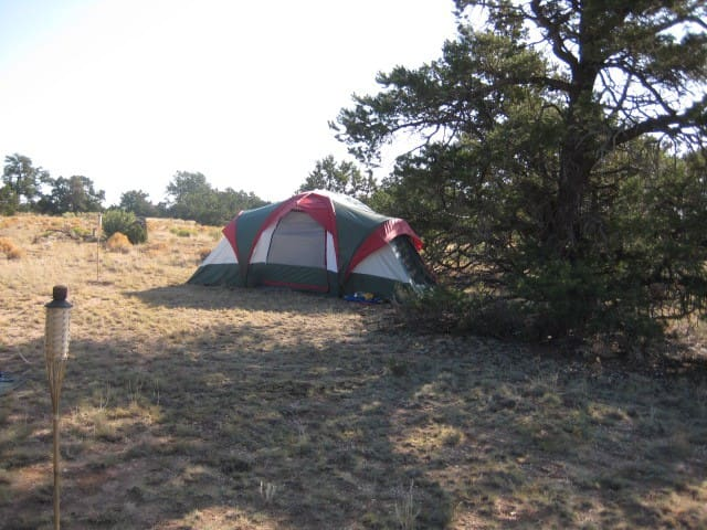 Typical campsite of recent guests - Tent not included!!!