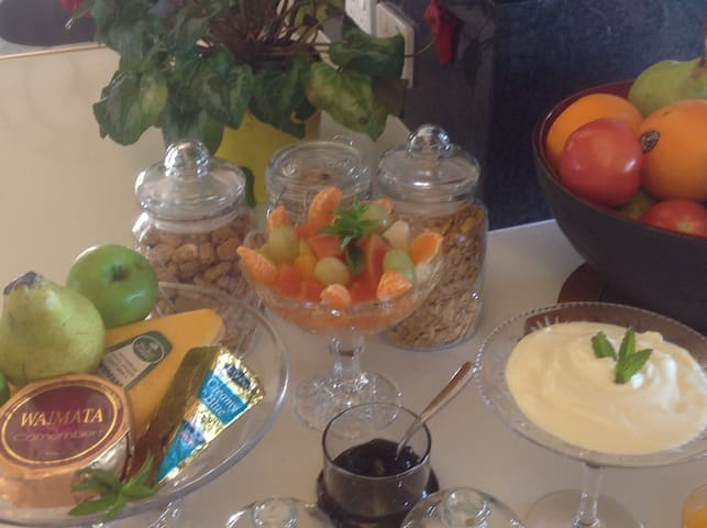 Continental styled breakfast.