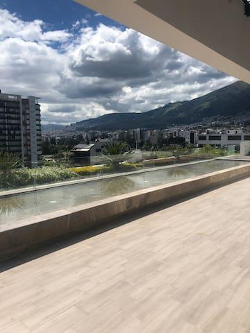 Vista desde la terraza /Rooftop deck with view