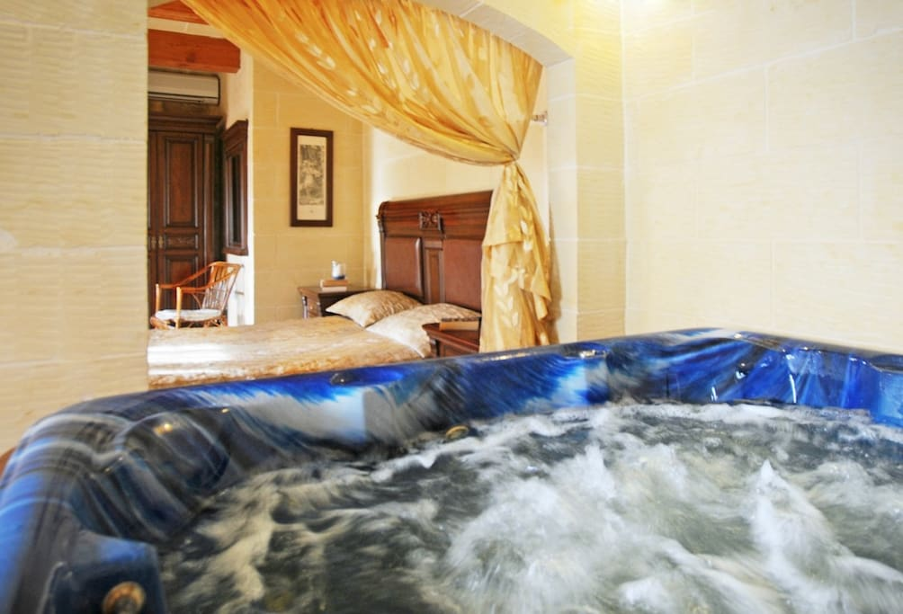 jacuzzi by the bed