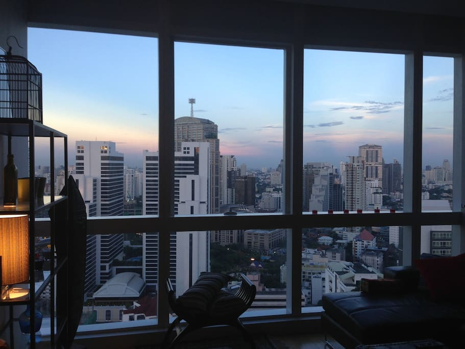 Early evening view from the living room