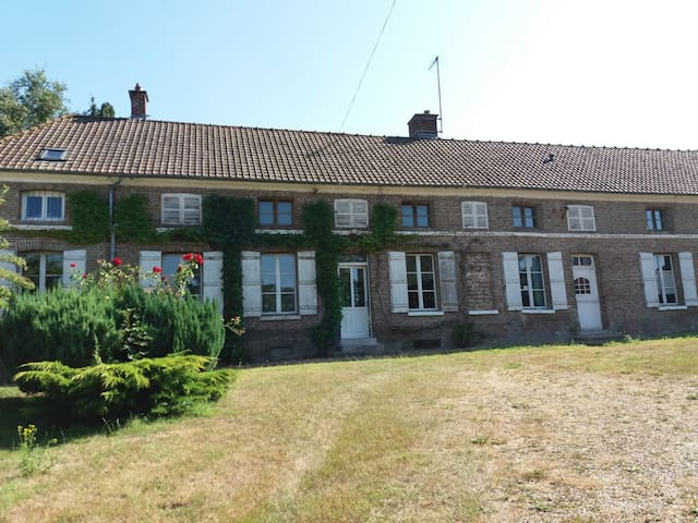 Typical lovely renovated country house in Picardy