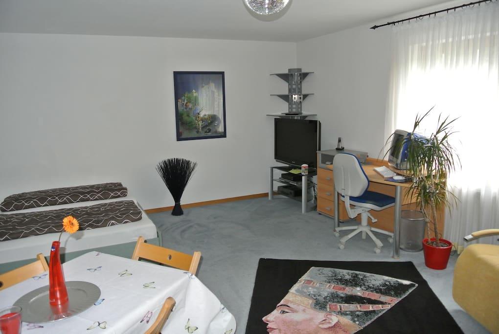 Wohn-Schlafzimmer - Residential bedroom -