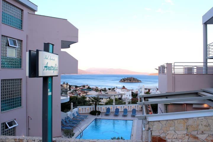 Sea view Apartment  in Tolo with Pool   2-4 People