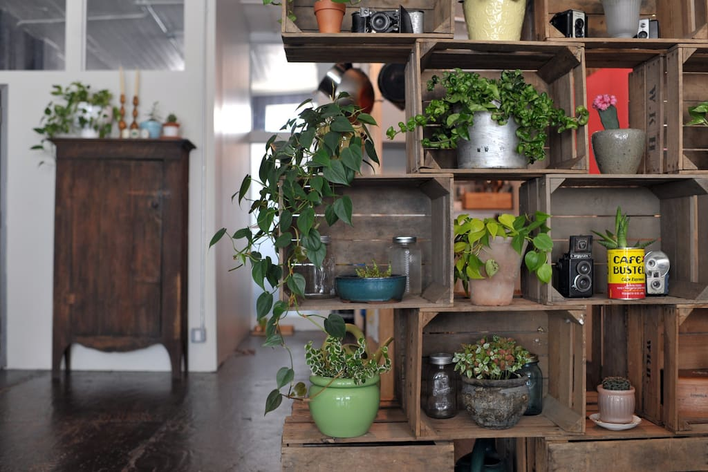 Antique farm pieces give urban living a rustic feel