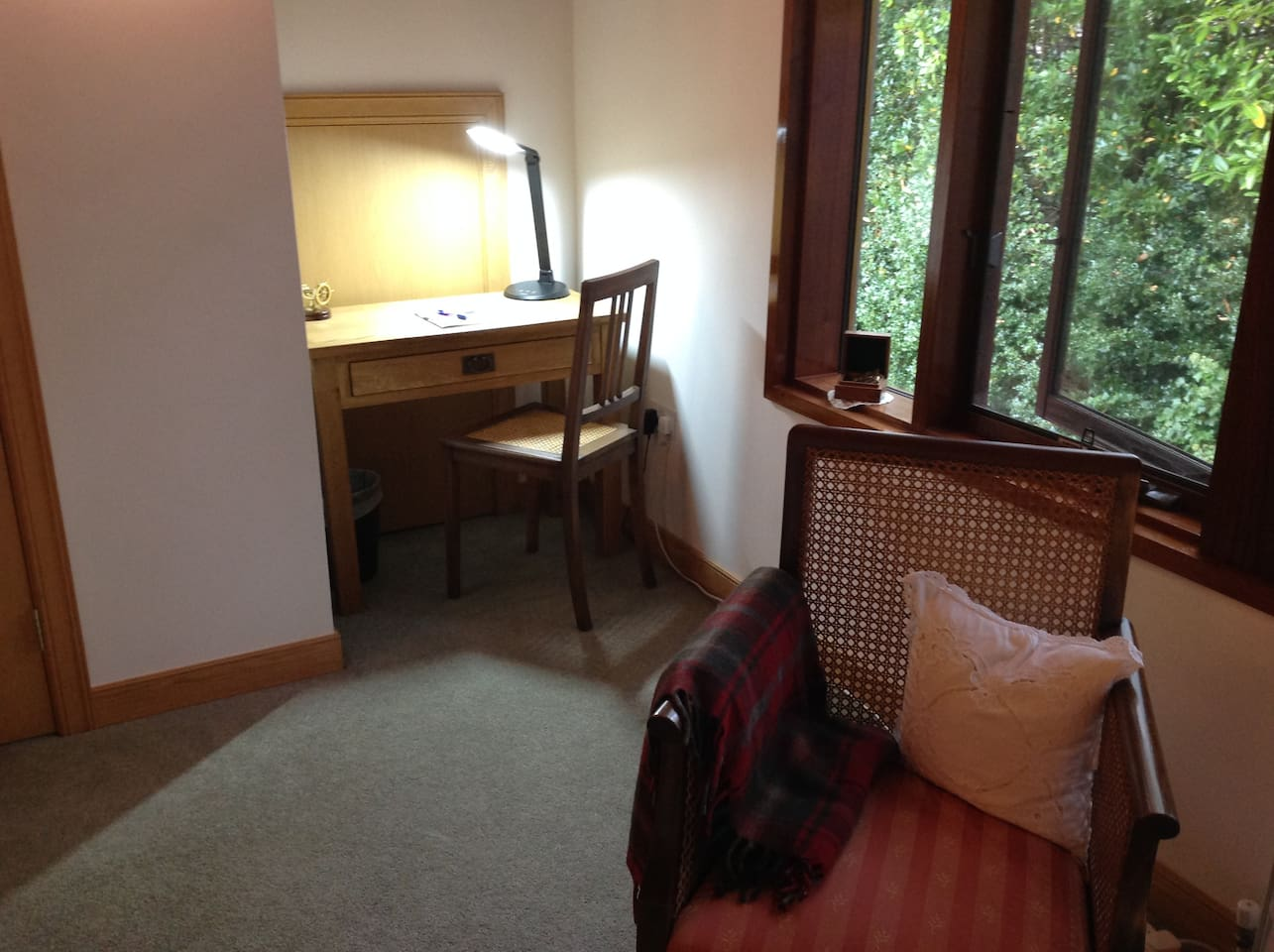 Your room with a desk and free WIFI.