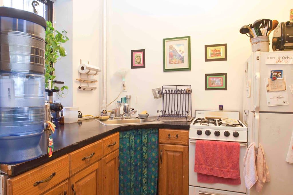 Kitchen. Filtered Water.