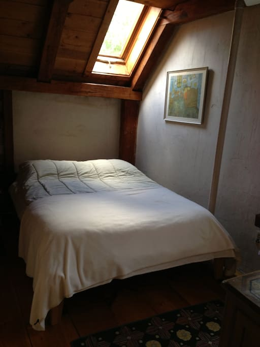 Double bed under the eaves