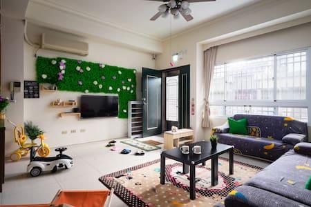 台中東海親子合法民宿[寶貝小時光]大空間包棟可達50人、近BRT直達逢甲夜市、高美濕地、一中街