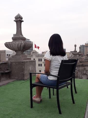 My rooftop overlooking Plaza San Martin