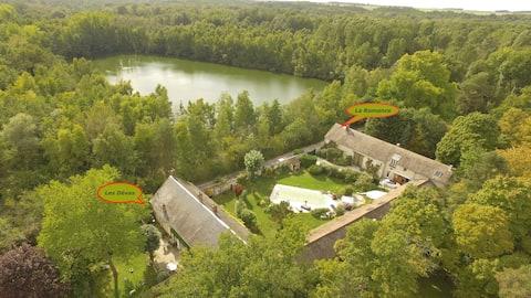 Les Dévas, casa de campo encantadora, região Milly-la-Forêt