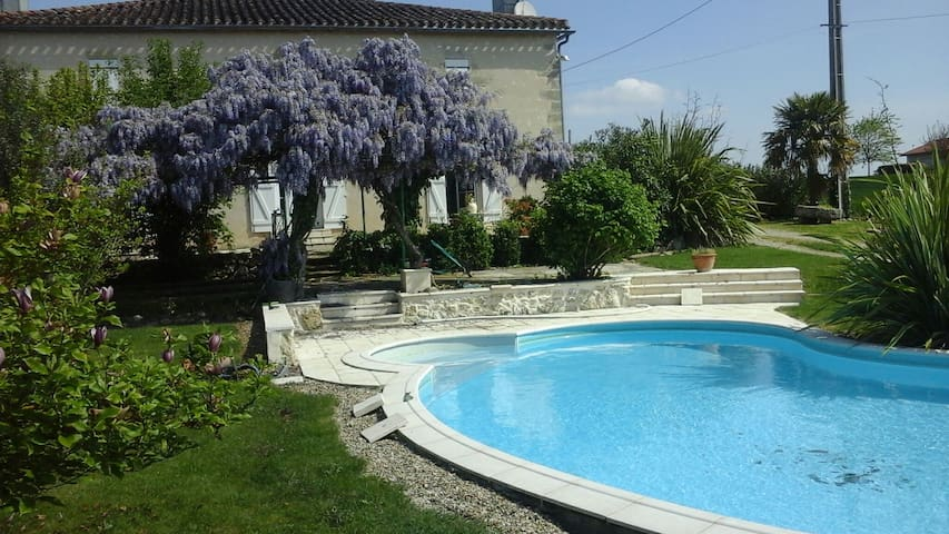 Calme champetre CHAMBRE ROSE SWEETIE - Sainte-Bazeille - Bed & Breakfast