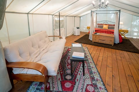 """Glamping at Copperhill - """"The Kayaker"""""""