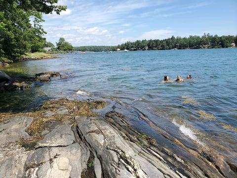 Oceanfront A Frame 'Maine Camp'