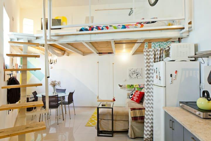 Sunny and Charming Florentin Loft/House + Garden