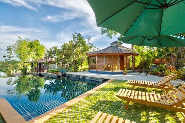 清迈夜间动物园 皇家花园 Pool Villa山景独栋套房 网红天空之镜无边泳池度假村 免费接机