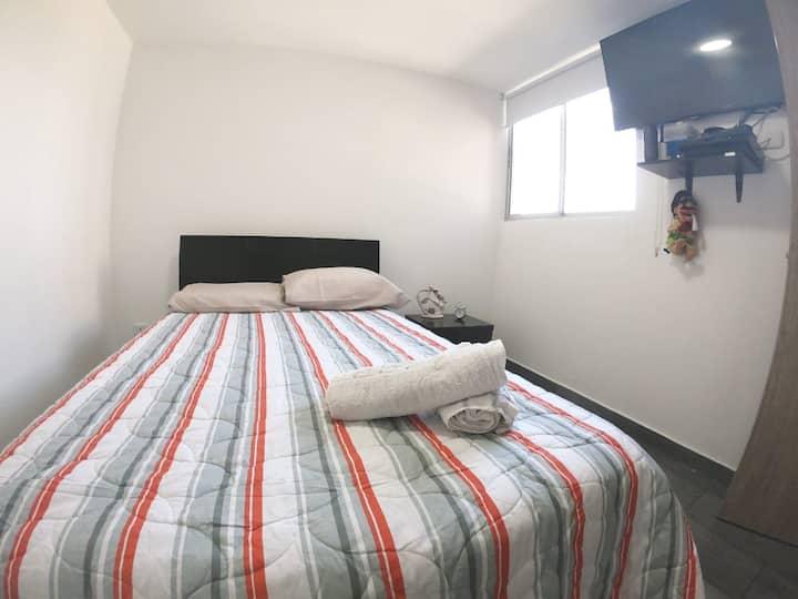 Habitación privada con excelentes instalaciones.