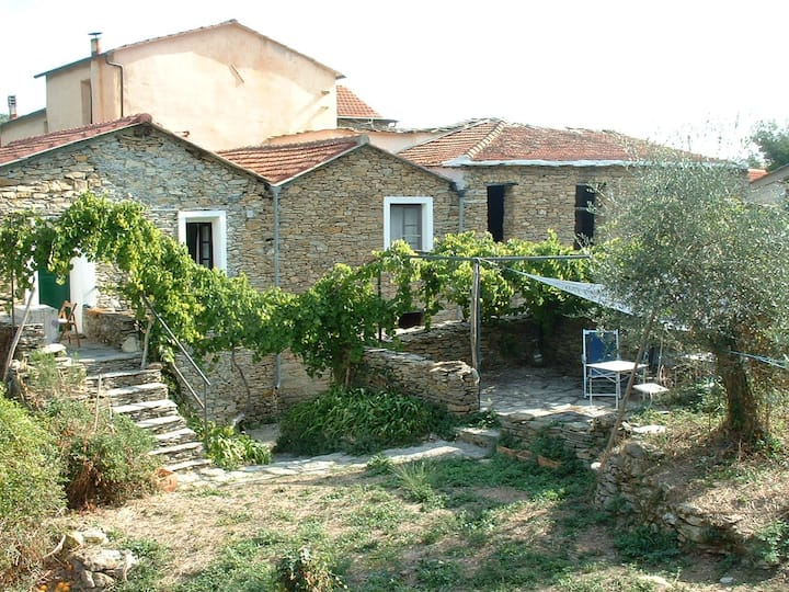 Charming village house in the groves near the sea