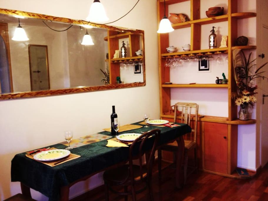 One of the private rooms for rent