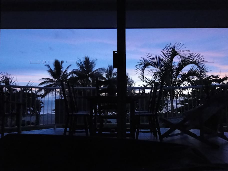 Sunrise over the Coral Sea - View from inside the living area of your apartment