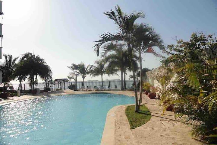 Resort on the beach in Santa Marta