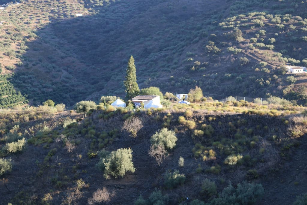 Distant View of Yurts South View