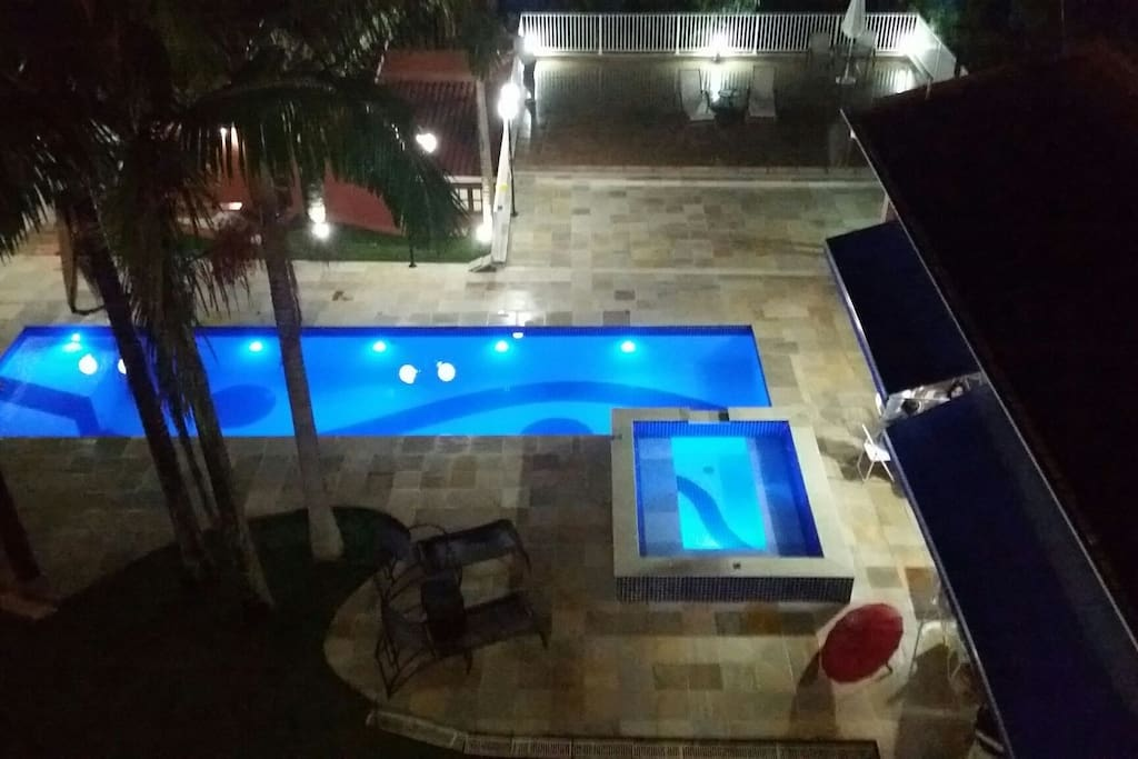 Solar heated pool and spa