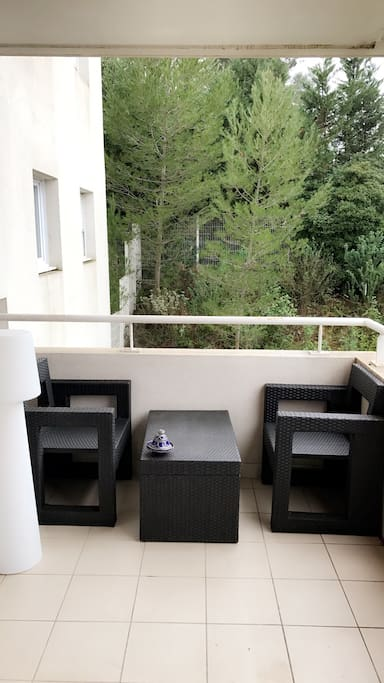 Profitez du soleil de Montpellier grâce à cette belle terrasse..
