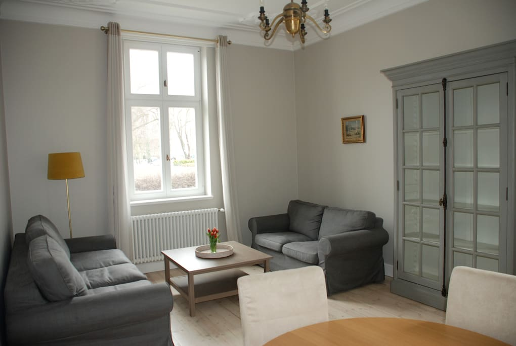 Living room with double sofa for 2