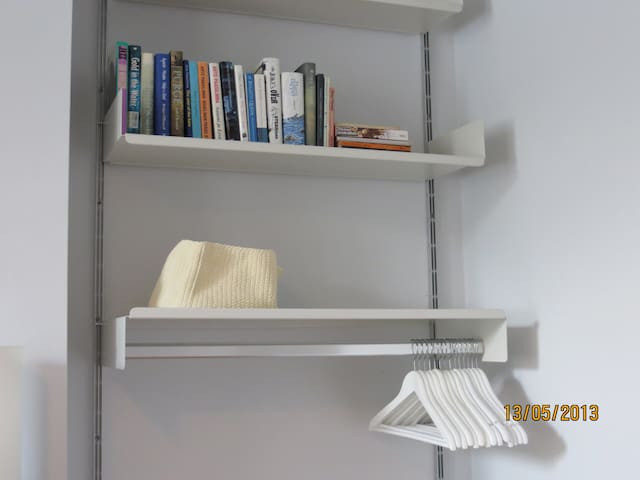 Ample storage for clothes and personal effects