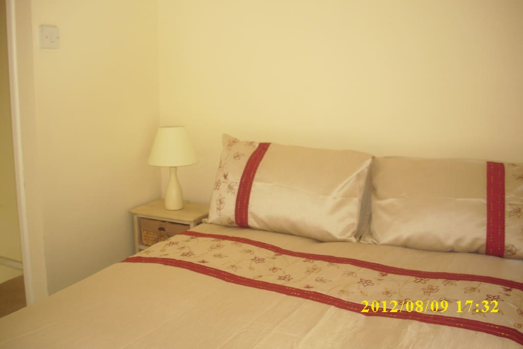One of two comfortable bedrooms