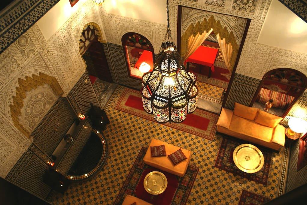 Les Oudayas depuis la terrasse du Riad.