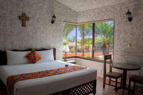 Fint bungalow hus, tradisjonell meksikansk appelsin
