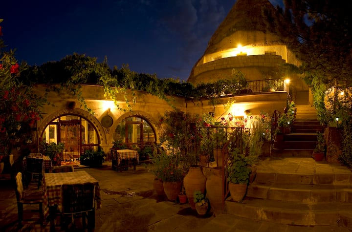 Stay in a fairy-chimney room Goreme